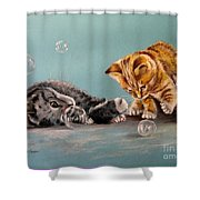 Bubble Cats Shower Curtain