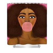 Bubble Gum Girl Shower Curtain