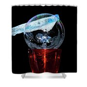 Bubble In A Glass Shower Curtain