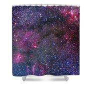 Bubble Nebula And Cave Nebula Mosaic Shower Curtain