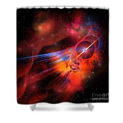 Bubble Nebula Shower Curtain