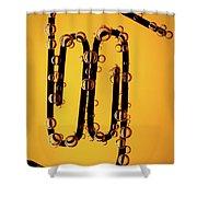 Bubble Race Shower Curtain by Marc Garrido