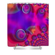 Bubble Trails Shower Curtain