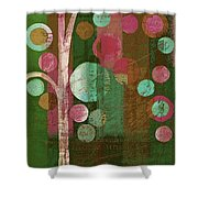 Bubble Tree - 85rc16-j678888 Shower Curtain
