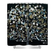 Bubble Tree Night Shower Curtain
