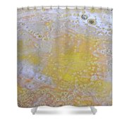 3. Bubble Yellow And White Glaze Painting Shower Curtain