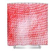 Bubblegum Knit Shower Curtain