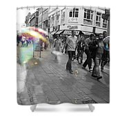 Bubbles. Copenhagen. 2 Shower Curtain