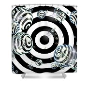 Bubble's Eyes Shower Curtain