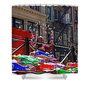 Bubble Gun Seller In New York Shower Curtain