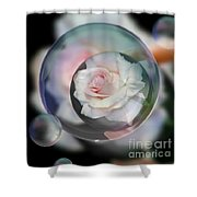 Bubbles Of Love Shower Curtain