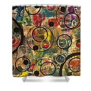 Bubbles Shower Curtain by Sonya Wilson