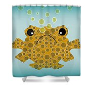 Bubbles The Fish Shower Curtain