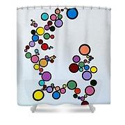 Bubbles2 Shower Curtain