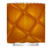 Bubbling Amber Shower Curtain