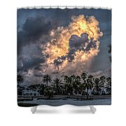 Bubbling Clouds Shower Curtain