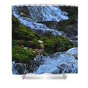 Bubbling Waterfall Shower Curtain