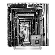 Bubbly French Quarter - Bw Shower Curtain