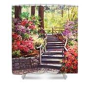 Buchart Garden Stairway Shower Curtain