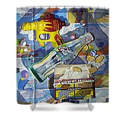 Buck Rogers And Animal Crackers Shower Curtain