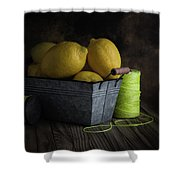 Bucket Of Lemons Shower Curtain