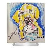 Buckett List For Dogs Shower Curtain