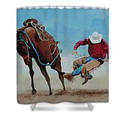 Bucking Bronco Shower Curtain