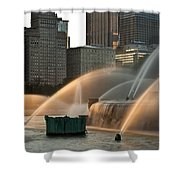 Buckingham Fountain Sidelight  Shower Curtain