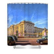 Buckingham Palace And London Taxis Shower Curtain