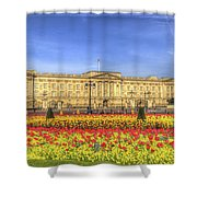 Buckingham Palace London Panorama Shower Curtain