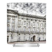 Buckingham Palace London Snow Shower Curtain
