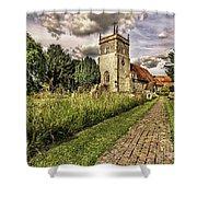 Bucklebury Parish Church Berkshire Shower Curtain