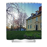Buckman Tavern At Sunset Shower Curtain