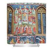 Bucovina Monastery Fresco Shower Curtain