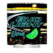 Bud Light Lime Tweeked Shower Curtain
