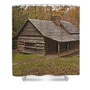 Bud Ogle Cabin Fall  Shower Curtain