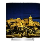 Buda Castle At Night Shower Curtain