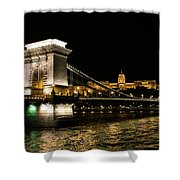 Chain Bridge And  Buda Castle  Shower Curtain