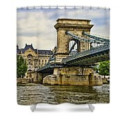 Budapest - Chain Bridge Shower Curtain