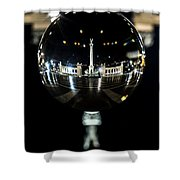 Budapest Globe - Heroes' Square Shower Curtain