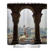 Budapest Life. Shower Curtain