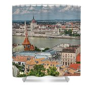 Budapest Overview Shower Curtain