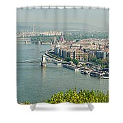 Budapest Panorama Photo Shower Curtain