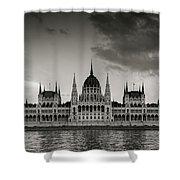 Budapest Parliament Shower Curtain