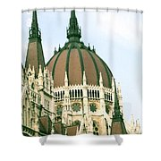 Budapest Parliment Shower Curtain