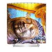 Budda Sleep Shower Curtain