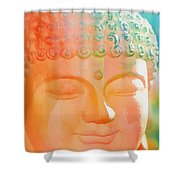 Buddah Glow Shower Curtain