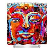Buddha 3 Shower Curtain