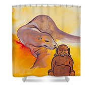 Buddha And The Divine Sea Lion No. 2089 Shower Curtain