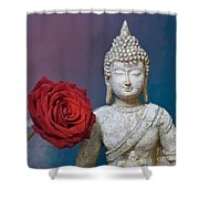 Buddha And Rose Shower Curtain